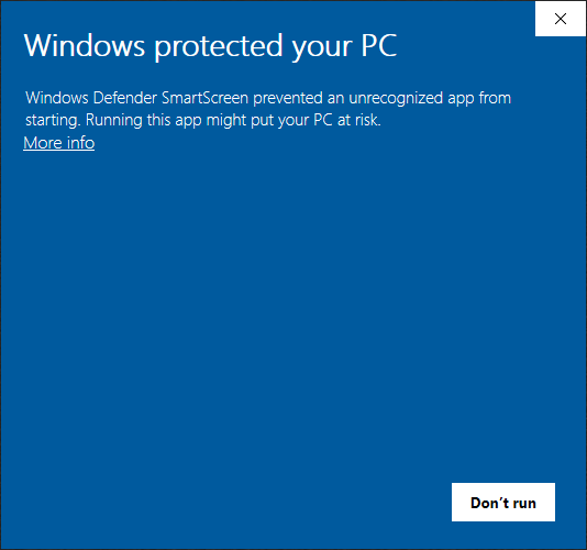 Windows protected your PC - TechEditor