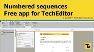 TechEditor 1.0.4 | Numbered sequences