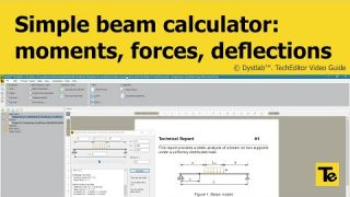 TechEditor 1.0.3 | Simple beam calculator (+ free Report)